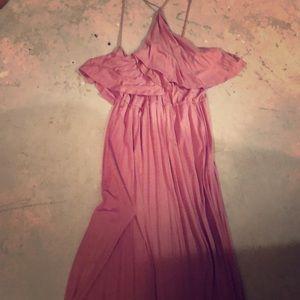 Mauve razorback dress